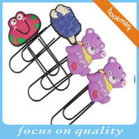high quality relief design paper clip catoon colorful custom 3d bookmarks