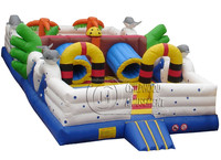 inflatable jungle fun city for kids outdoor games, inflatable jungle Amusement toys kids bouncer