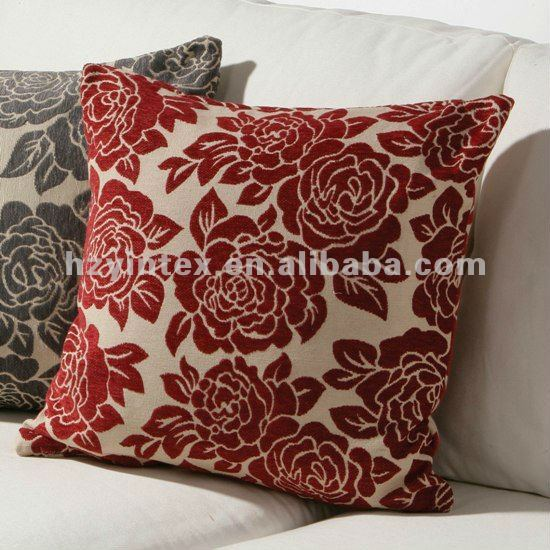 Plush Rose Square Seat Cushion & Pillow