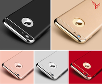 New products 2016 Hot Selling 3 in 1 Ultra-thin Electroplate Hard PC Back Case Cover for iPhone 6/6s