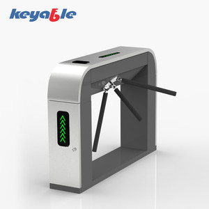 OEM rfid access control turnstile gate with door lock for ticket management system
