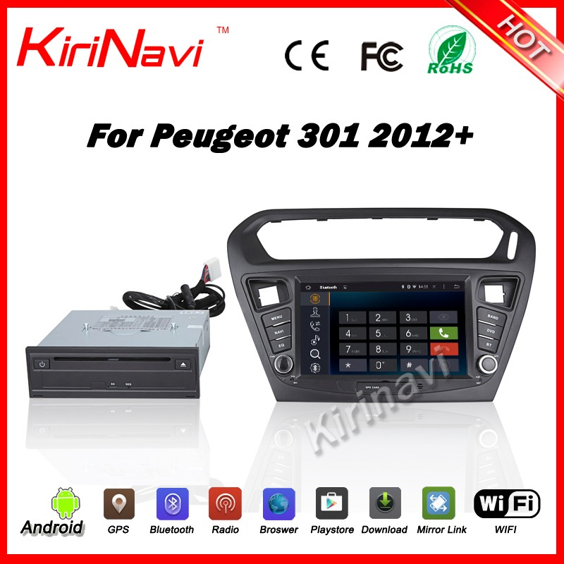 Kirinavi WC-PT8015 Android 5.1.1 car multimedia navigation for peugeot 301 2012+ android car radio touch screen dvd player