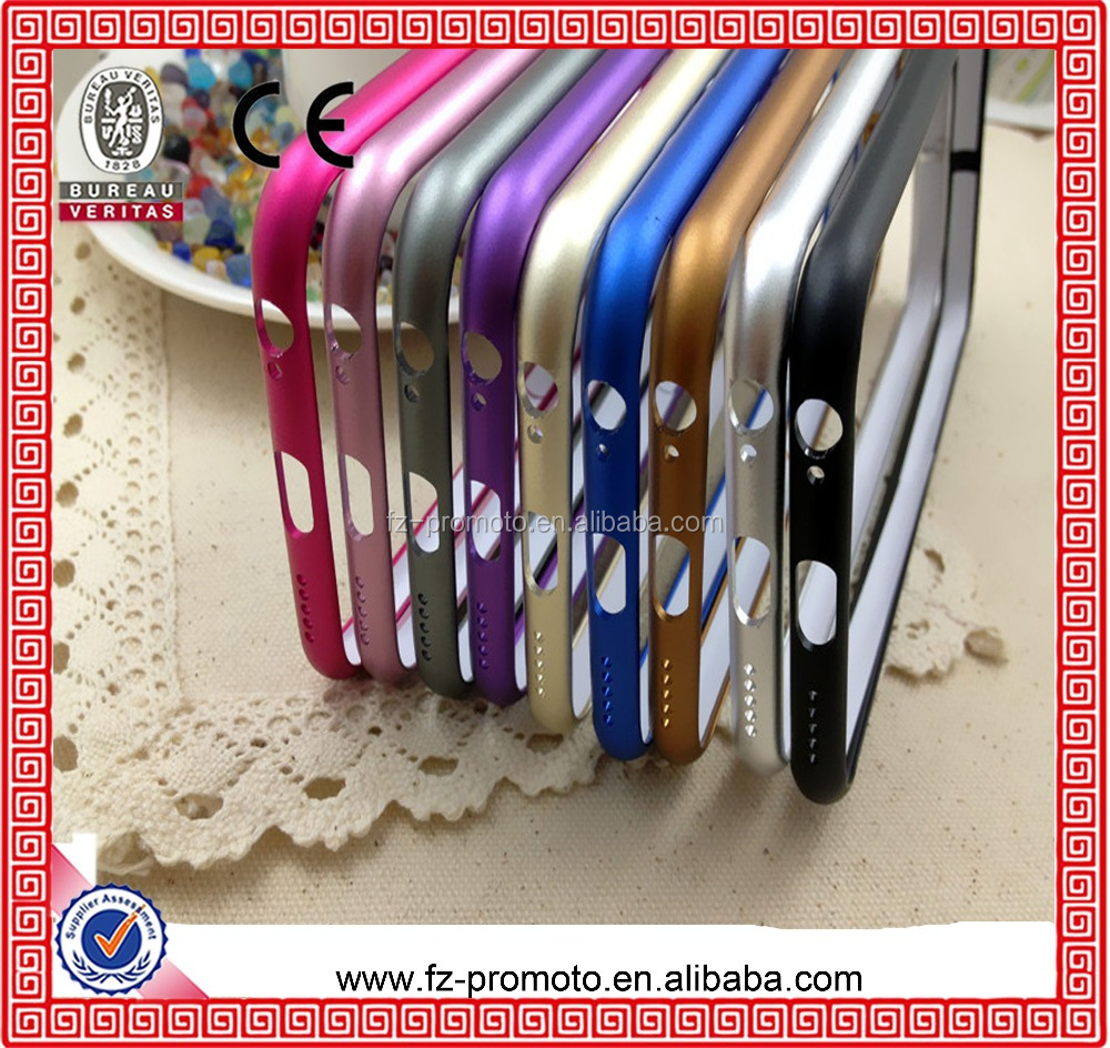 Dual Color Metal Phone Bumper Case For Iphone 5 5S No Screw Ultra Thin Aluminum Frame Slim Case For Apple iPhone 6