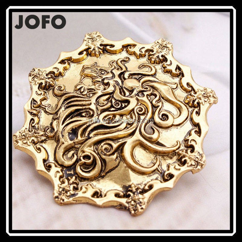 Game of Thrones Brooch Song of Ice and Fire Vintage Golden Lion Pin Brooch