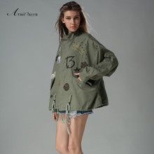 Promotion comfortable fashion causal lose military jacket women