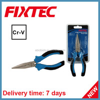 "Fixtec Hand Tool Chrome Vanadium Long Nose Plier 6"" Function"