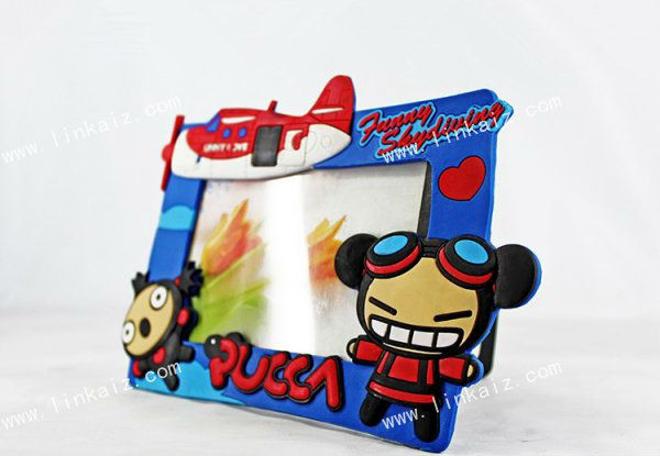 7 inch cartoon colorful square shaped photo frame for children pictures