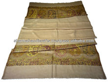 very fine wool kani scarf india