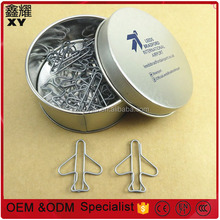 Airport Promotional gifts custom fancy silver plane airplane shape paper clips