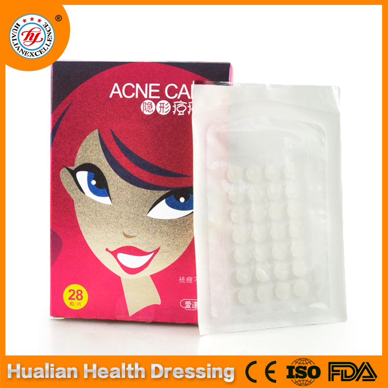 Invisible hydrocolloid acne patch cohesive plaster
