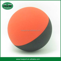 Red&black color hollow rubber bounce toy ball
