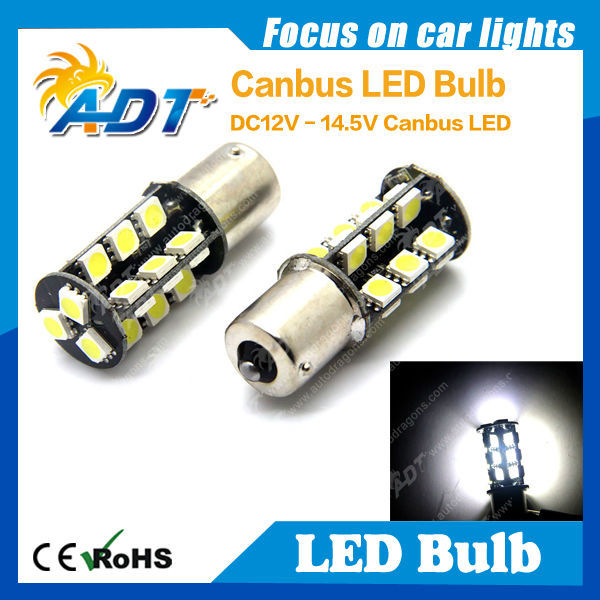 Best White Car Turn Fog Light SMD5050 LED 1156 BA15S BAU15S Canbus 27 LED bulb