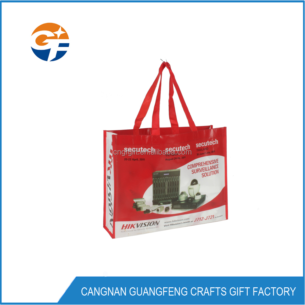 China fashion PP promotional non woven shopping bag witn laminated