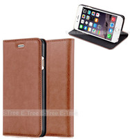 Stand wallet leather case for iphone 6, mobile phone accessories leather cell phone case for iphone 6 pu leather case