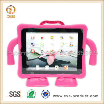 children antishock foam eva case cover for apple iPad 2 3 4 with stand