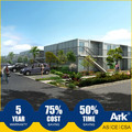 Ark Top Quality Good Price 2 Story Long Lifespan Flatpack Prefabricated Steel Pro-shops