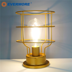 EVERMORE Metal Frame Design Retro Table Fairy Lamp For Hotel/Commencial Decoration