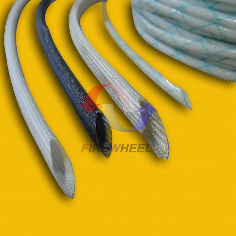 white fiberglass wire cloth high temperature electrical insulation sleeve