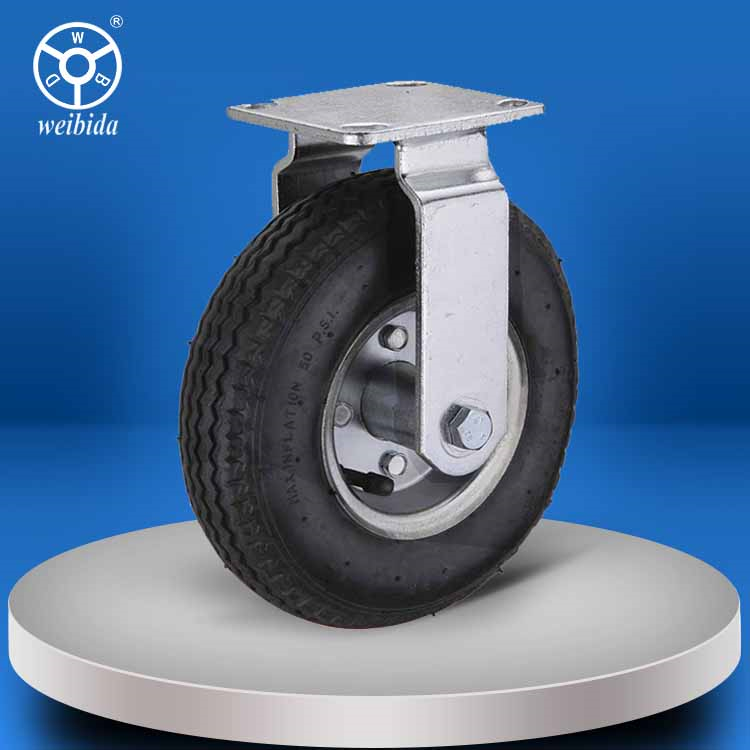WBD Black 200kg swivel or fixed industrial rubber caster wheels