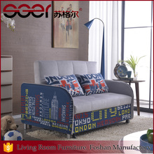 Iron frame fabric sponge unique furniture functional chinese couch