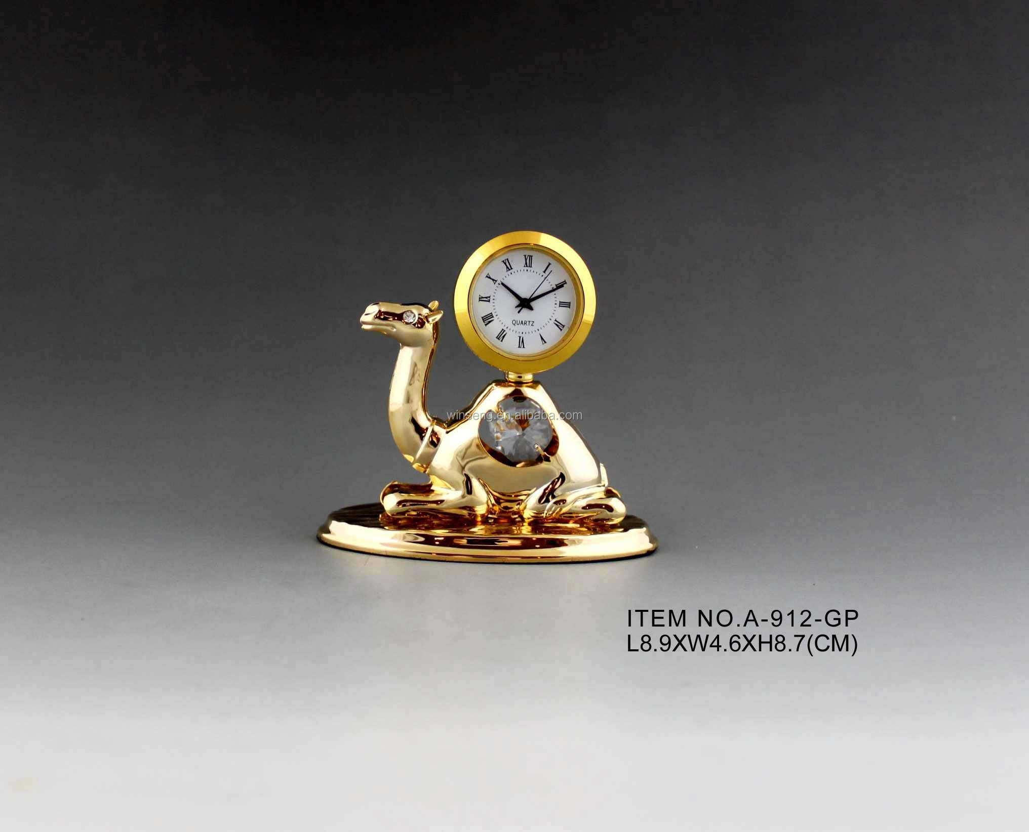 Hot Sale 24K gold plated Camel Clock