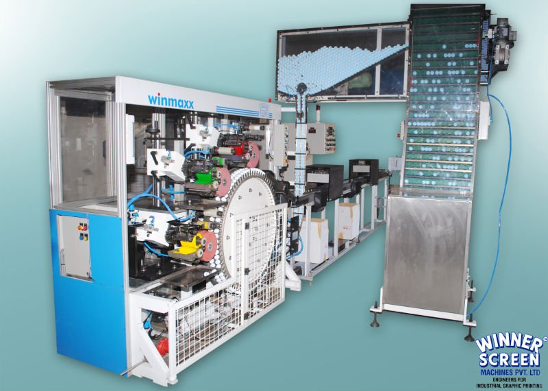 High speed fully automatic rotary pad printing machine
