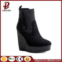 Made in China latest design women fancy high wedge hot sex boots