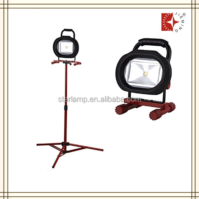 high quality steady aluminum tripod floor 50w led lamp work light stand