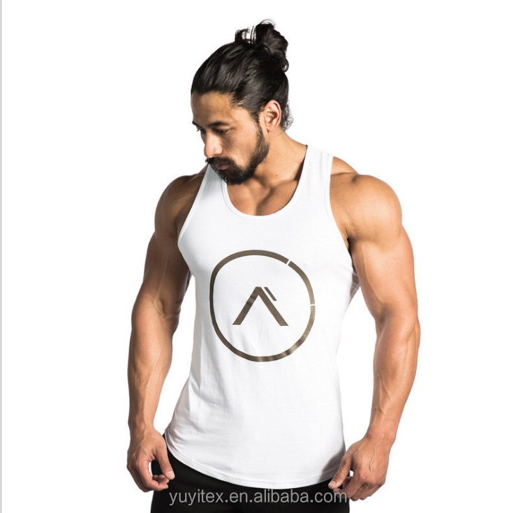Whoelsale high quality 100% cotton Sports running vest breathable training fitness sleeveless tank top