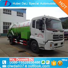 China customized 12CBM sweage suction tanker truck with water tank for sale