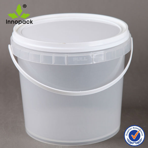 5l Transparent And Clear Plastic Bucket With Lid Buy