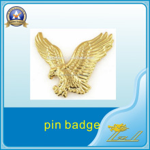 Pin badge maker new products custom american gold eagle