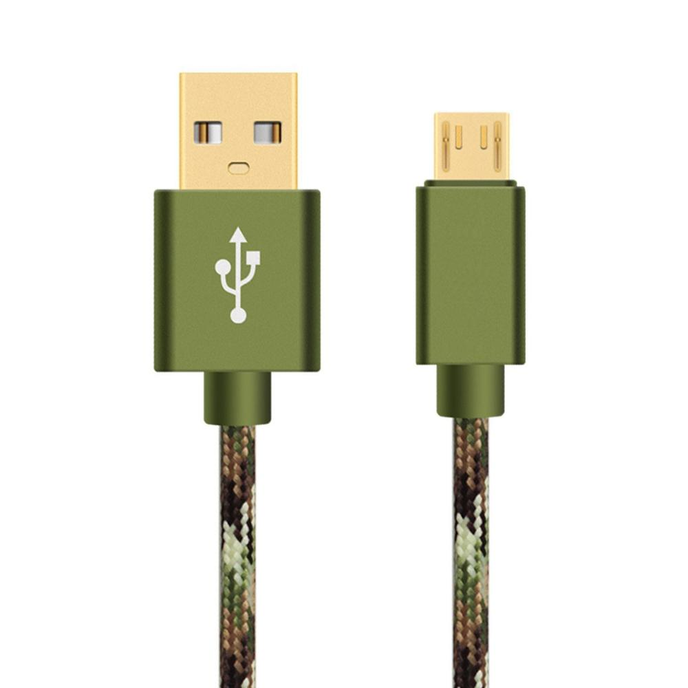 camouflage pattern USB cable metal micro usb 3.1 Type C cable