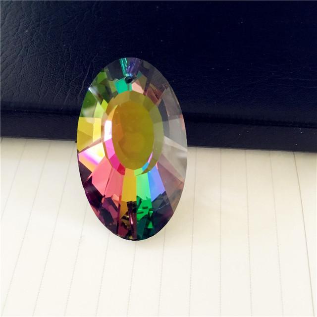 K9 Machine Cut Rainbow Earring Crystal AAA Lamp Parts Prism crystal trimming pendants