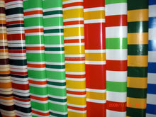 pvc striped tarpaulin