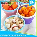 Hot selling cheap home storage collapsible snack silicon container
