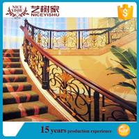 China polish/brush/mirror finish stair railing/outdoor wrought iron stair railing