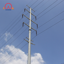 11kv low voltage galavznied 440kv 550kv lattice masts steel power transmission line hot dip galvanized pole