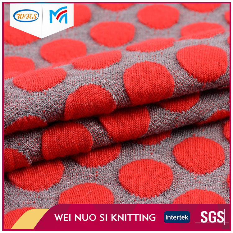 Cheap fabric supplier breathable red dot different knit fabric price