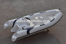 Liya 12.5' inflatable small lifeboat rib boat for sale usa electric fiberglass
