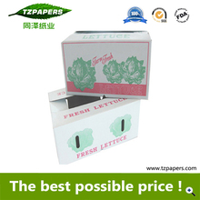 Ecofriendly Waxed Dipped Corrugated Boxes for Lettuce Packing