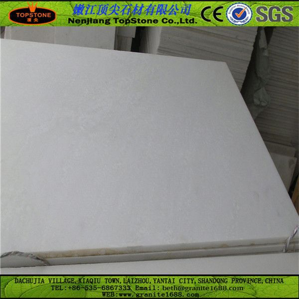 Pure White Marble Slab man made stone snow white marbles