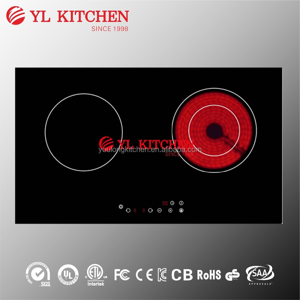 4200w double induction and infrared cooker(induction cooker ceramic glass)