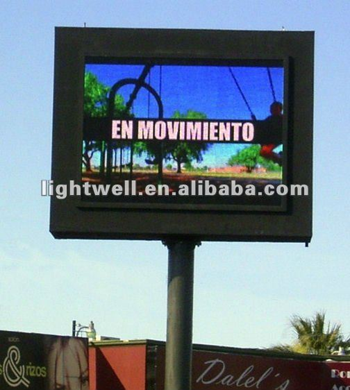 roadside,street,highway,DIP p16 pixel advertising led display/panel/sign/screen/board