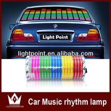 80*19cm Genuine High Quality Color Change Dance Car Music Rhythm Lamp Light Sound Activated Equalizer EL Car Stickers