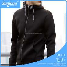 Wholesale Pure Color Men's Blank Zipper Hoodies With Pocket