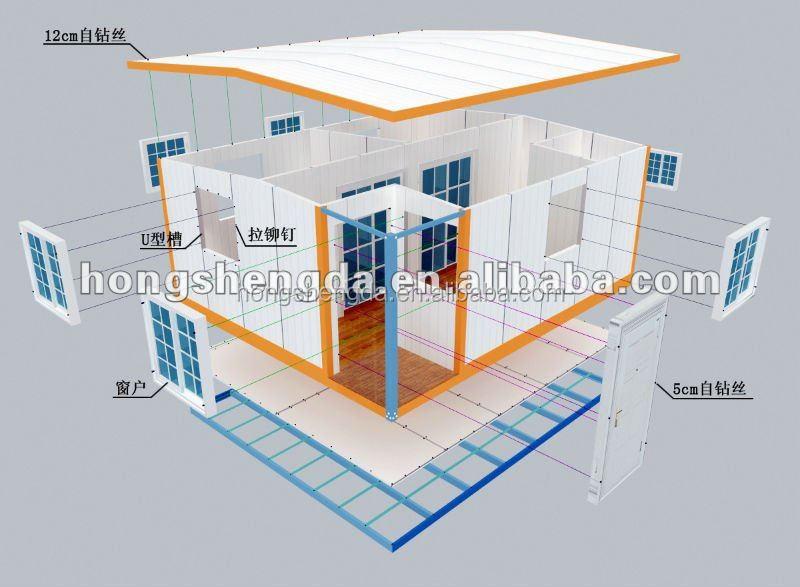 A buon mercato casa prefabbricata moderna casa mobile per for Piani di casa a buon mercato in vendita