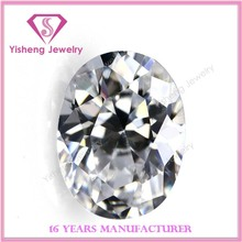 Factory Hot Sale Oval White Clear Loose Cubic Zirconia Gemstone Names