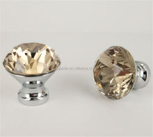 New products special design crystal glass cabinet handle with reasonable price