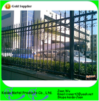 Customized Wrought Iron Fence Design For Factory/Garden/Park/Yard